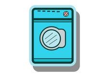 Vetor do ícone da máquina de lavar com estilo liso do projeto Fotos de Stock Royalty Free