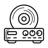 Vetor do ícone da vídeo ilustração royalty free