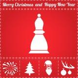 Vetor do ícone da xadrez ilustração royalty free