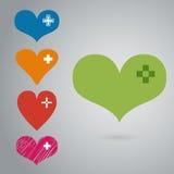 Vetor do ícone do coração Fotos de Stock Royalty Free