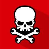 Vetor do ícone do crânio Foto de Stock Royalty Free