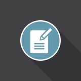 Vetor do ícone do formulário do contato isolado no preto ilustração do vetor
