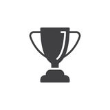 Vetor do ícone do troféu do copo loving, sinal liso enchido, pictograma contínuo isolado no branco ilustração royalty free