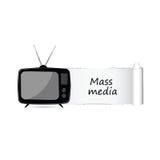 Vetor do ícone dos mass media Imagens de Stock Royalty Free