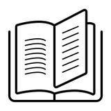 Vetor do ícone do livro ilustração stock