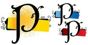 Vetor do alfabeto p ilustração stock