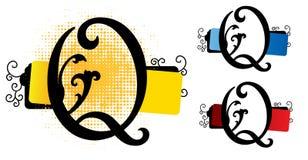 Vetor do alfabeto q ilustração royalty free