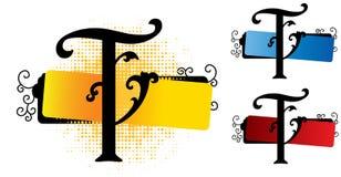 Vetor do alfabeto t ilustração stock