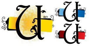 Vetor do alfabeto u ilustração stock