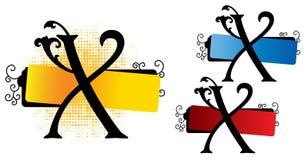 Vetor do alfabeto x ilustração royalty free