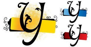Vetor do alfabeto y ilustração do vetor