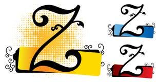 Vetor do alfabeto z ilustração stock