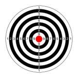 Vetor do alvo do rifle Imagens de Stock