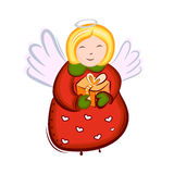 Vetor do anjo do Natal Imagem de Stock Royalty Free