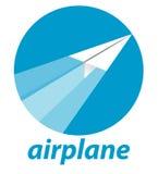 Vetor do avião de papel Foto de Stock