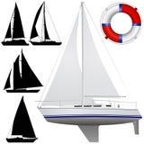 Vetor do barco de navigação Fotografia de Stock