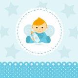 Vetor do bebê do rapaz pequeno Imagens de Stock