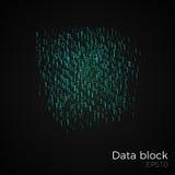 Vetor do bloco de dados Foto de Stock Royalty Free