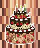 Vetor do bolo de aniversário Imagens de Stock