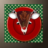 Vetor do bolo do Natal Imagens de Stock