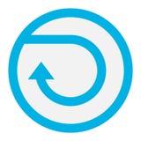 Vetor do botão do círculo ilustração stock