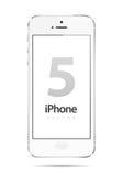 Vetor do branco de Iphone 5 Fotos de Stock