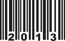 Vetor do código de barras 2013 ilustração stock