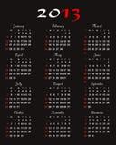 Vetor do calendário 2013 Imagem de Stock Royalty Free