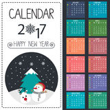 Vetor do calendário Fotografia de Stock Royalty Free