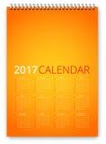 Vetor do calendário 2017 Imagens de Stock