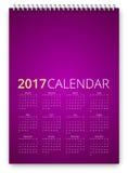 Vetor do calendário 2017 Imagem de Stock
