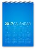 Vetor do calendário 2017 Fotografia de Stock