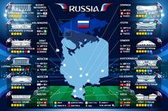 Vetor do campeonato do mundo do estádio de Moscou Fotos de Stock Royalty Free