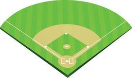 Vetor do campo de basebol ilustração stock