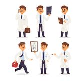 Vetor do caráter do doutor isolado ilustração do vetor