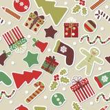 Vetor do cartão de Natal Imagens de Stock Royalty Free