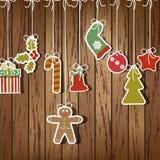 Vetor do cartão de Natal Foto de Stock Royalty Free