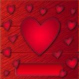 Vetor do cartão de Valantine Fotografia de Stock