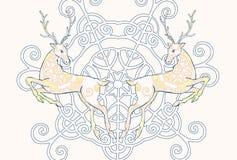 Vetor do cartão dos cervos Imagens de Stock