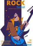 Vetor do cartaz do festival de música rock ilustração royalty free