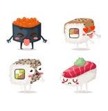 Vetor do caráter do sushi Fotos de Stock