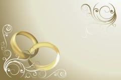 Vetor do cartão de casamento Imagens de Stock