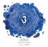 Vetor do chakra de Ajna imagem de stock royalty free