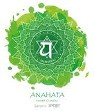 Vetor do chakra de Anahata foto de stock