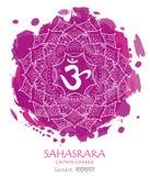 Vetor do chakra de Sahasrara foto de stock royalty free