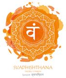 Vetor do chakra de Svadhishthana imagens de stock