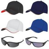 Vetor do chapéu e dos vidros Imagens de Stock Royalty Free