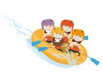Vetor do clipart dos desenhos animados transportar de rio ilustração do vetor