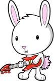 Vetor do coelho da estrela do rock Imagens de Stock
