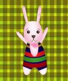 Vetor do coelho feliz Fotos de Stock Royalty Free